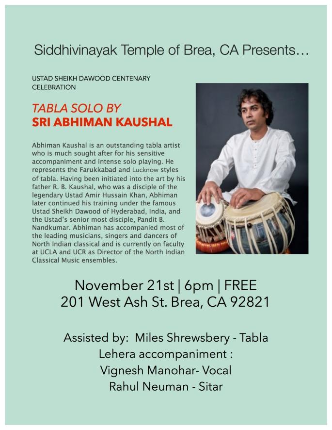 concert flyer november 21st